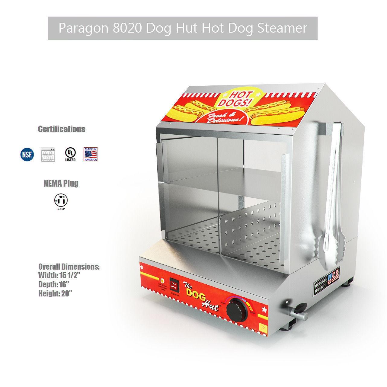 paragon dog hut hot dog steamer 3d model max fbx 1 - Hot Dog Warmer
