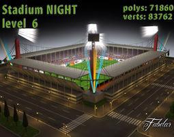 Stadium Level 6 Night 3D Model