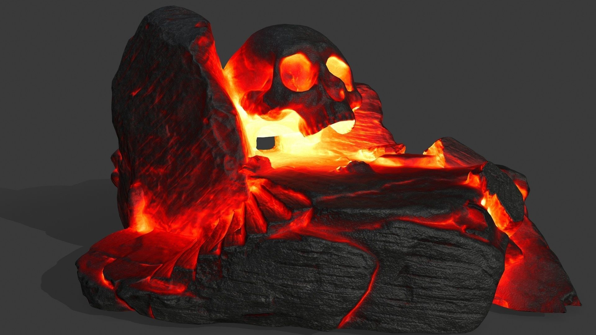 fire skull cave
