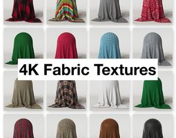 3D model 4K Fabric Textures Pack