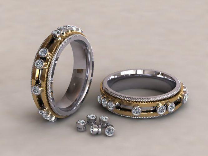 fashion ring 002 3d model obj mtl 3ds stl 3dm ige igs iges stp 1