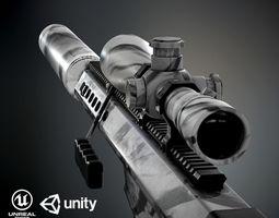 3D model Barret M82A1 PBR