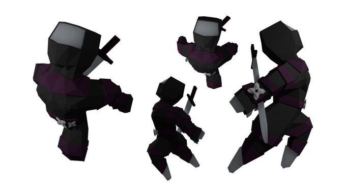 Ninja outfit for Basic human RIGGED