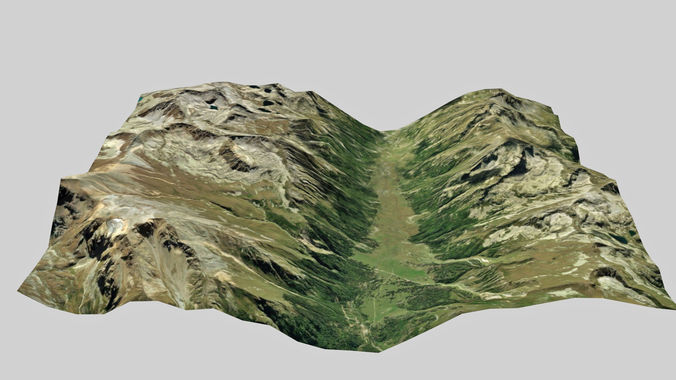 lowpoly terrain 2 3d model low-poly max fbx 1