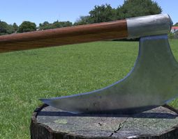 ORTAS AXE NO 7 HUGE STEEL REALISTIC AXE WITH LONG 3D model