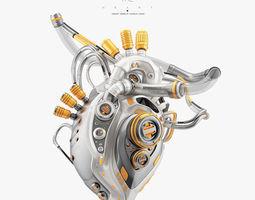 3D model Robotic heart III technology