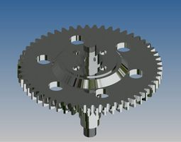 Gear with shaft 3D model