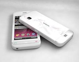 Nokia C5-06 White 3D model