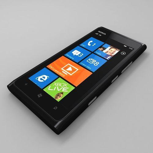 nokia lumia 900 black 3d model max obj mtl 3ds fbx dxf 1