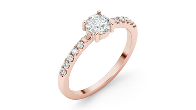 engagement ring 26 round 3d model max obj mtl stl 3dm 1