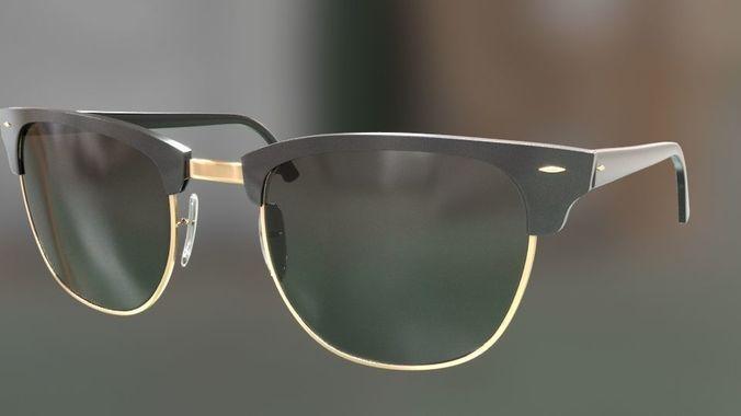 63e46f4b97 rayban clubmaster glasses 3d model 3d model max obj mtl fbx 37
