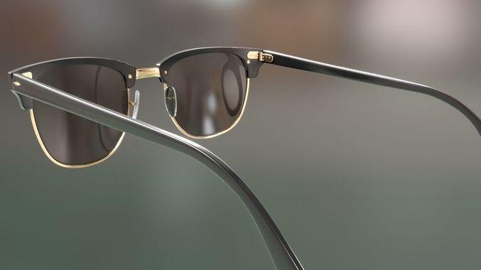 dd2d3c2a21 rayban clubmaster glasses 3d model 3d model max obj mtl fbx 13