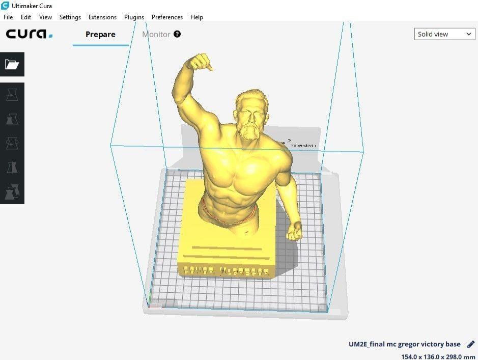 Conor McGregor Victory sculpture - 3D print ready