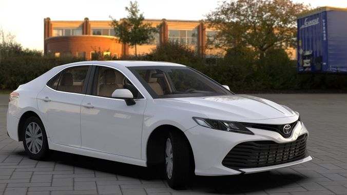 toyota camry le 2019 hq interior bumpers support 3d model max obj mtl fbx 1