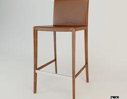 Zanotta Leo Bar Chair 3D model