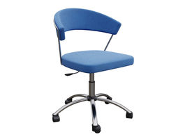 3D model Swivel chair with upholstered seat NEW YORK 1