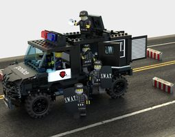 3D SWAT Lego VAN and Special Squad Officers