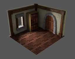 Medieval Room stylized 3D model