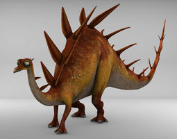 3D asset Kentrosaurus