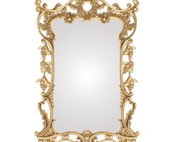 3D model Mirror classic rococo barocco