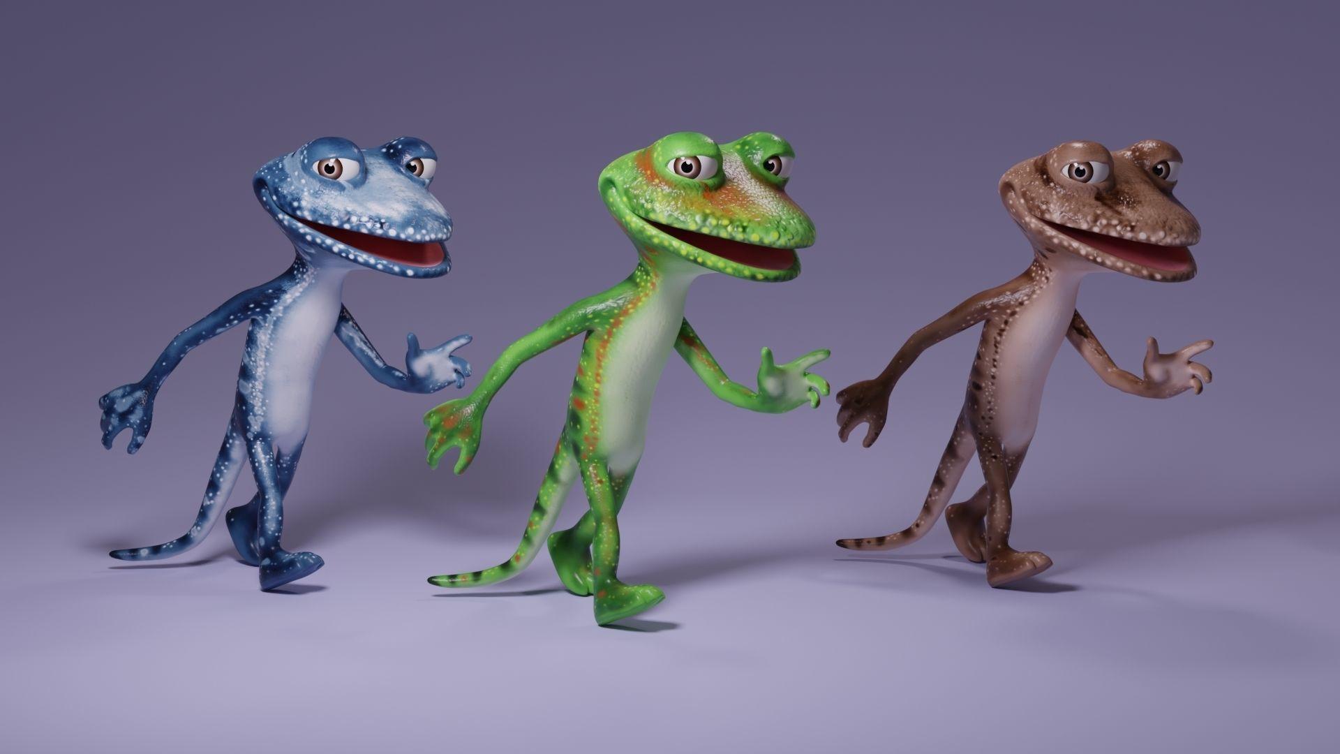 Toon Humanoid Lizard