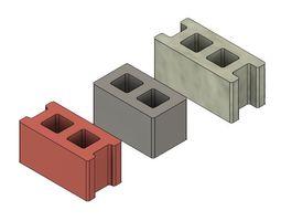 Free Mini Cinder Blocks 3D print model