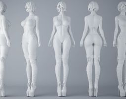 HD Sexy Bikini Girls 3D print model