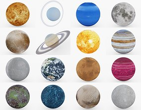 3D model Photorealistic Planet Collection