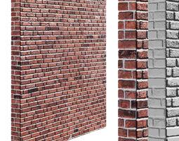 3D asset Seamless brick wall with high resolution 2