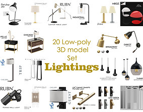 3D Lightings collection model