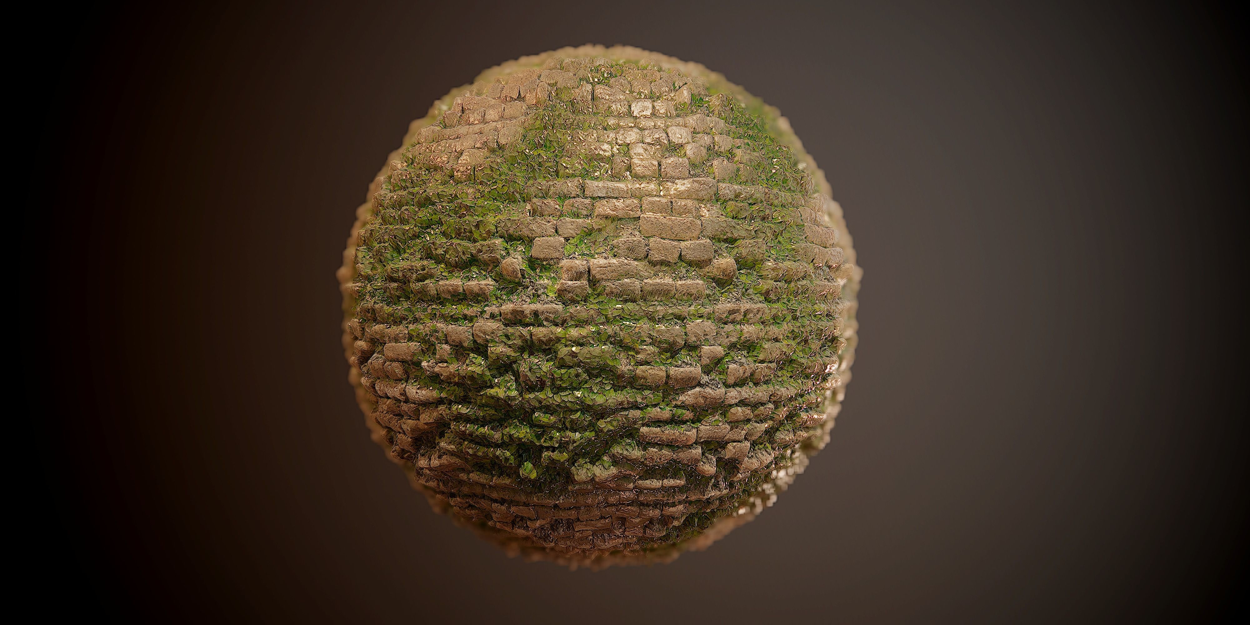 Brick Vines PBR SEAMLESS Texture 3D model vines | CGTrader