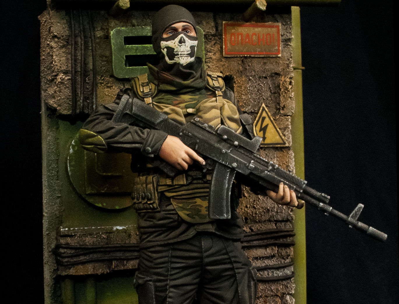 Modern soldier with Ak47