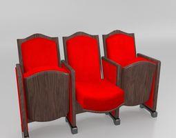 Cinema Chair 3D asset