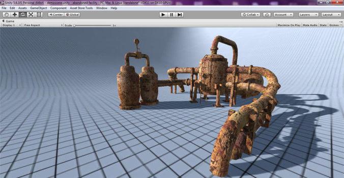 abandoned reactor unit 3d model obj mtl 3ds fbx stl dae 1