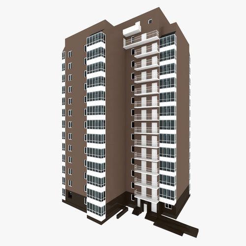residential house building part 8 3d model obj mtl 3ds fbx c4d 1