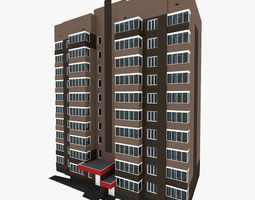 3D model Residential House Building Part 9