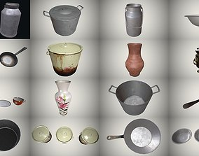kitchenware lod Dishes 3D model