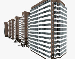 3D model Residential House Building Complex Part 5-8 All