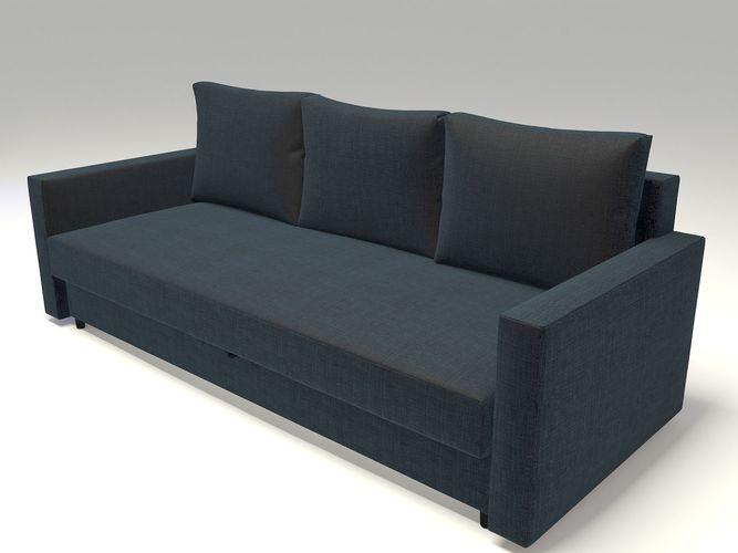 Ikea Friheten Sofa Bed 3d Cgtrader