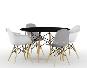 3D model Eames Table And Chairs