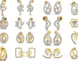 Bulk Earrings-0013-3dm with stones-58 Files-Collection
