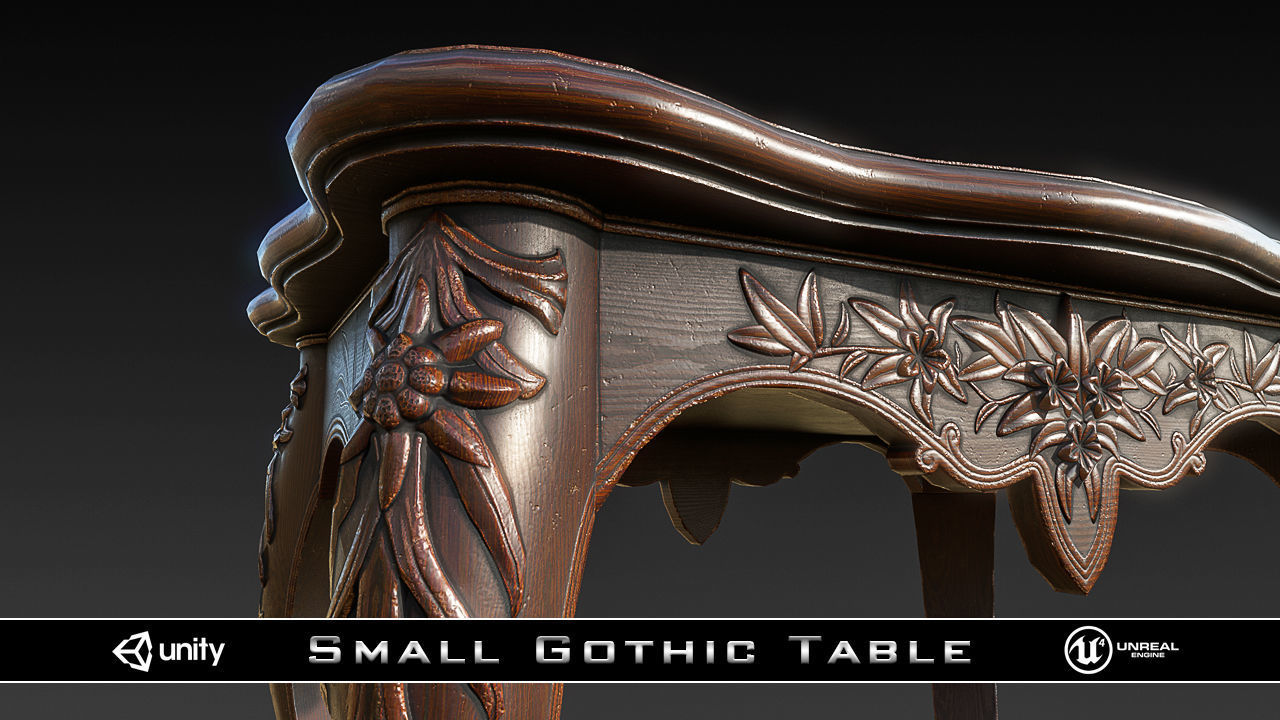 PBR Small Gothic Table