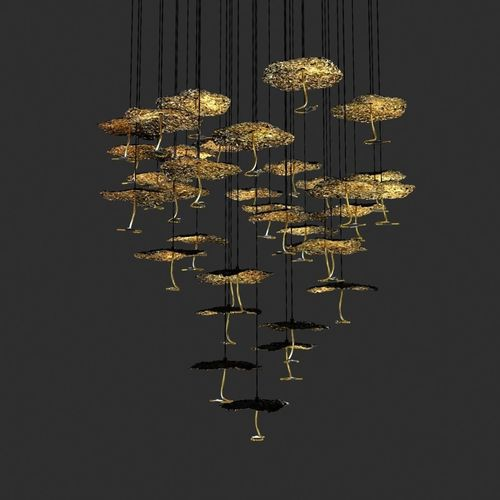 Catellani and smith gold moon chandelier | 3D model