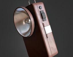 Vintage Flashlight 3D model