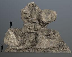 rocks sand 3D model realtime