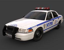 3D asset New York Police Car