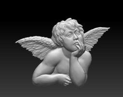 bas-relief of angel 3D printable model