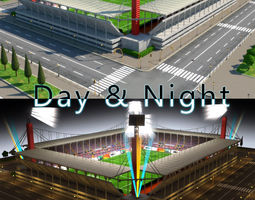 Stadium Level 6 Day-Night 3D asset