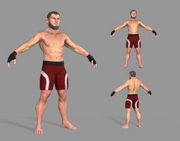 UFC Boxer 3D asset realtime