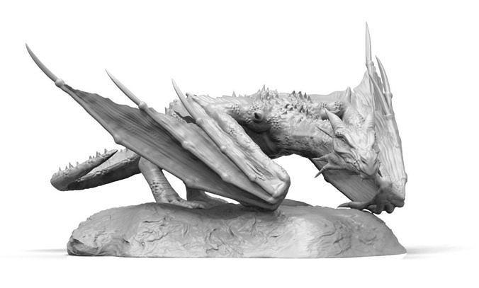 dragon 3d model obj mtl stl ztl 1
